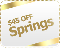 45 discount on springs